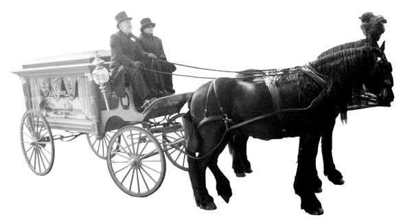 Horse-and-carriage-with-glass-casket