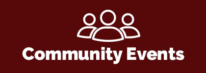 community events words with icon