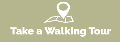 walking tour words with map icon