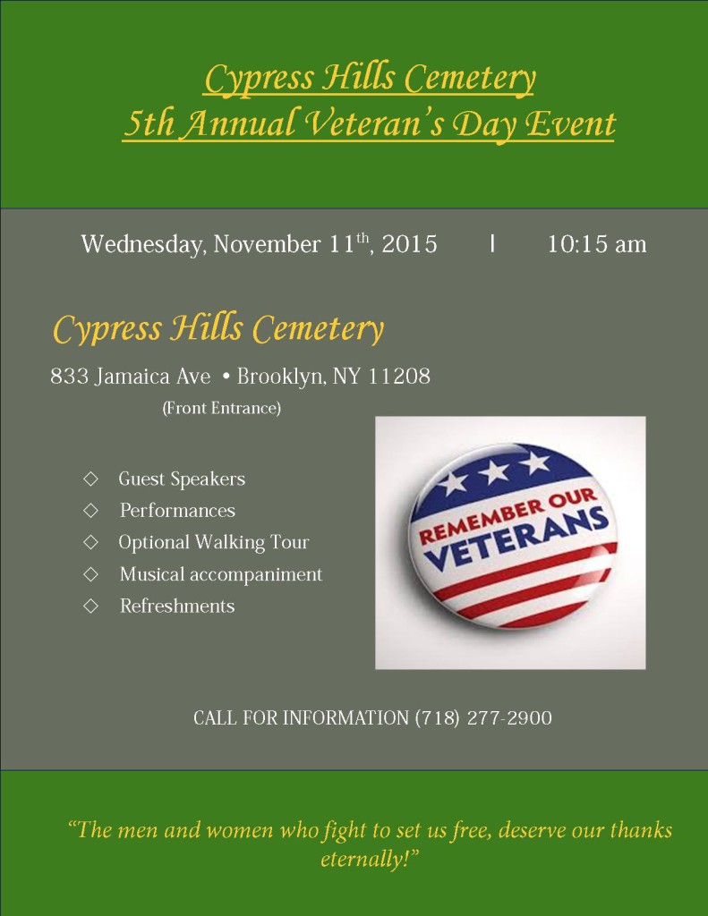 Veteran's Day flyer 2015