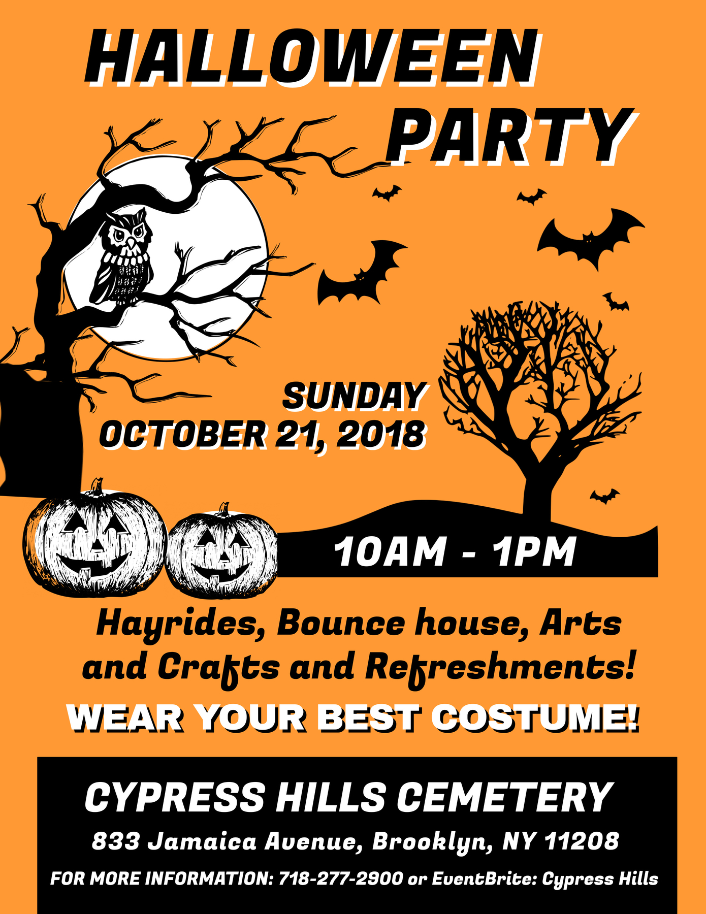 halloween party 2018 cypress hills cemetery